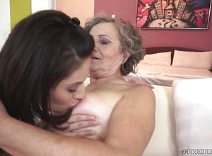 Granny,hairy,lesbian,licking,matures,old young,young