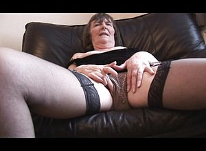 amateur,granny,hairy,masturbation,mature,solo,stockings,upskirt