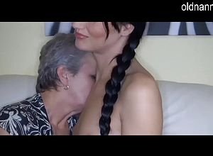 Granny,lesbian,matures,party,threesome,young