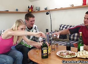 blonde,blowjob,czech,european,granny,threesome