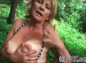 Thick boobs,doggystyle,granny,outdoor