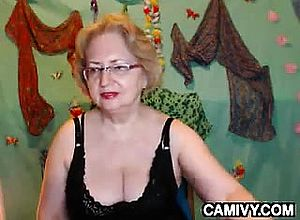 Large boobs,blonde,granny,masturbation,solo,webcam