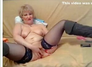 straight,grannies,blonde,stockings,fetish,solo,masturbation