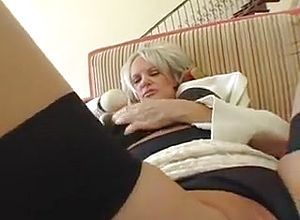 Facial,grannies,mature,stockings
