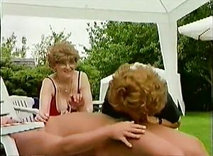 Straight,outdoor,threesome,grannies,german,blowjob