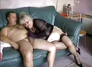 Straight,stockings,grannies,handjob