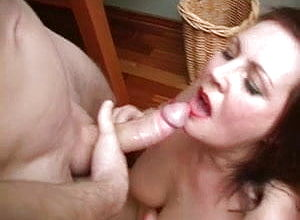 Blowjob,hairy,mature,creampie,granny,cunnilingus,eating Vag