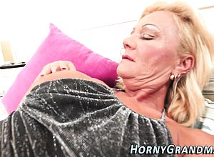 Large boobs,blonde,blowjob,facial,granny,hardcore