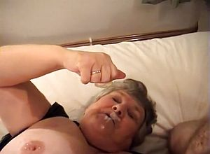 Straight,stockings,grannies,facial