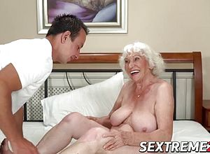 Big Cock,big tits,blowjobs,cumshot,granny,matures,old Young,short Hair,teasing,tits