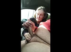 Granny,sucking