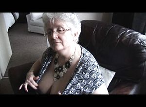 thick boobs,granny,masturbation,nylon,solo