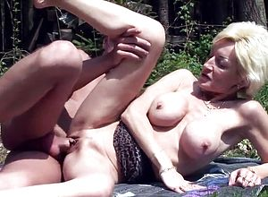 Large Tits,granny,horny,outdoor,tits