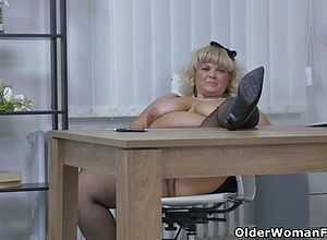 granny,milf,matures,office,black And ebony