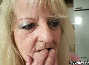 Blonde,blowjob,granny,mature