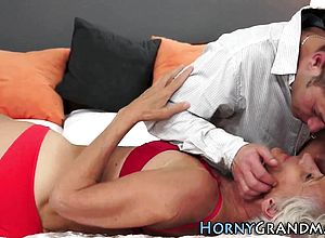 Blowjob,cumshot,granny,hairy,oldyoung