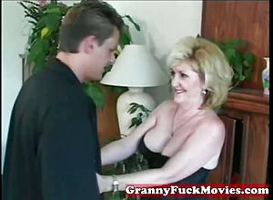 Thick boobs,blonde,granny,mature