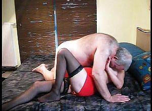amateur,bisexual,blonde,blowjob,doggystyle,granny,stockings