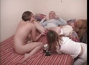 amateur,threesome,party,granny